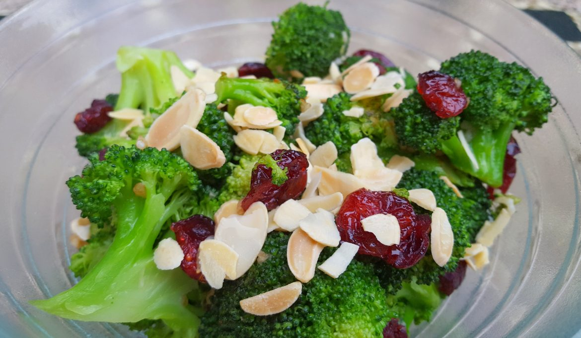 Sauteed Broccoli with Cranberries and Almonds