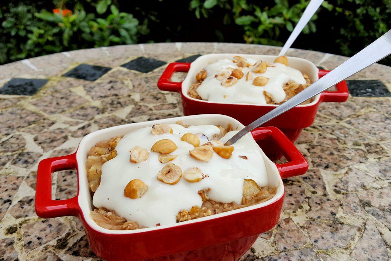 Pear and Ginger Porridge Bake