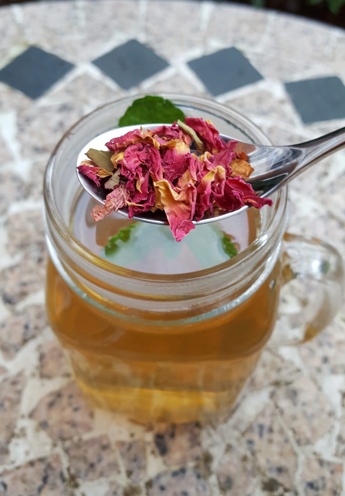 Mint and Rose Petal Infusion