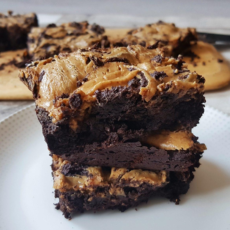 Chocolate Peanut Butter-Swirl Brownies