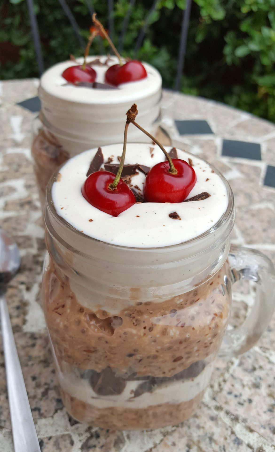 Chocolate Cherry Overnight Oats