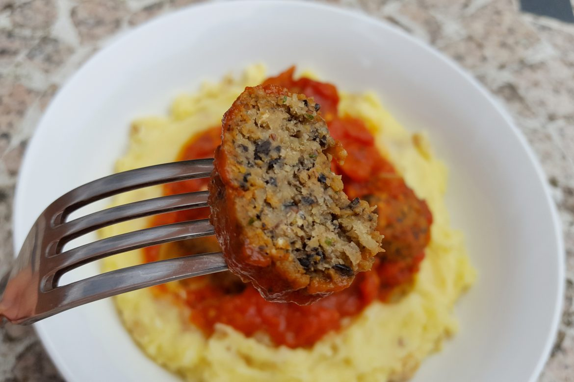 Chickpea, Olive and Herb 'Meatballs'