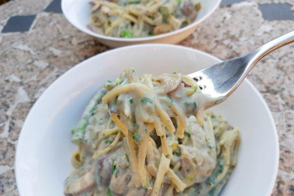 Creamy Chestnut & Mushroom Pasta
