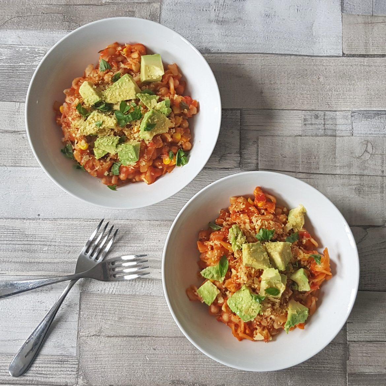 Tomato And Chickpea One Pot Pasta