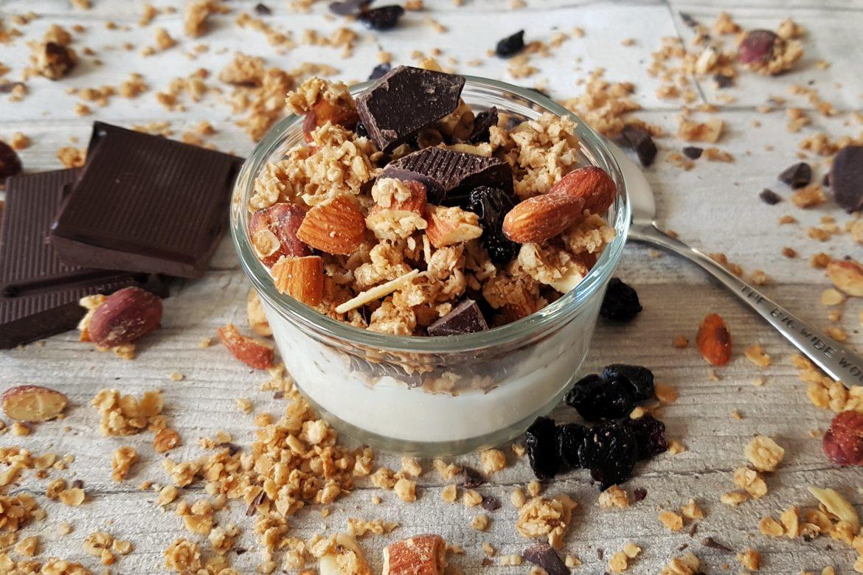Treat Yo Self Nutty Chocolate-Cherry Granola!