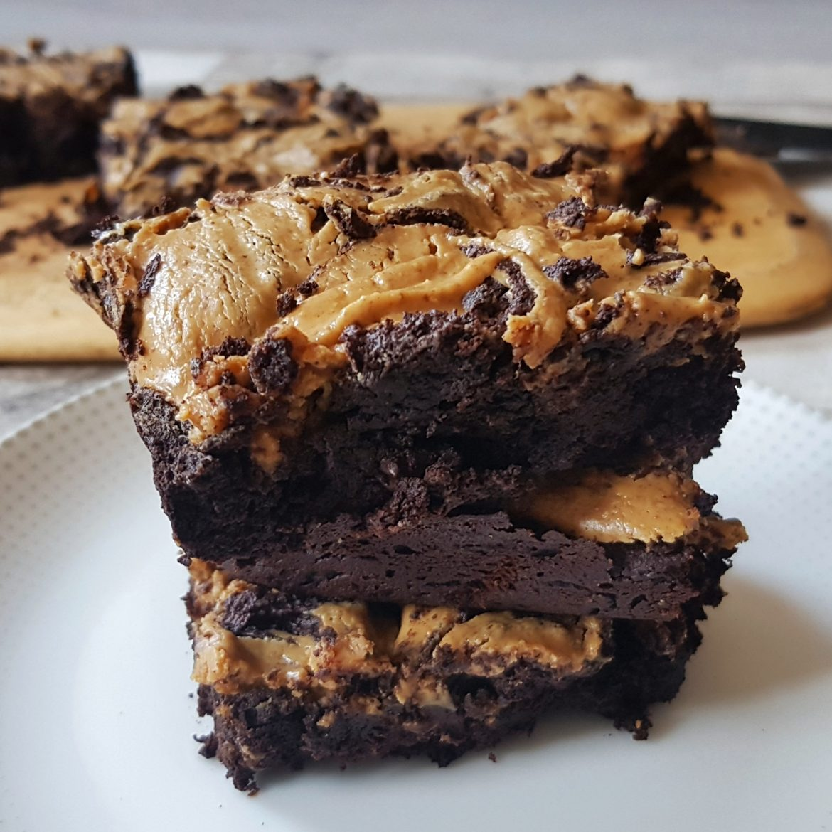Chocolate Peanut Butter-Swirl Brownies
